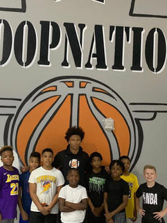 Mikey with Hoop Nation Hoopers
