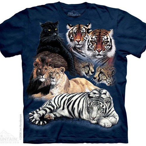 The WiLD Shop - The Mountain T Shirts - Big Cats 4fb81bd36e56