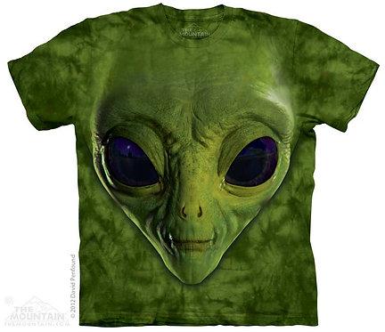Green Alien Face T-Shirt