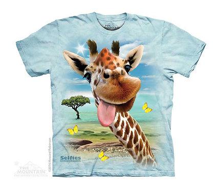 Giraffe Selfie Kids T-Shirt