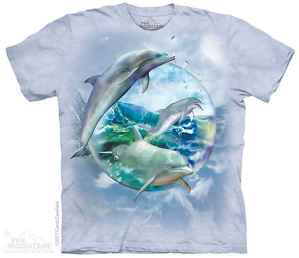 Kids Dolphin Bubble T-Shirt