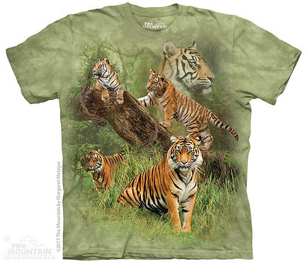 Kids Wild Tiger Collage T-Shirt
