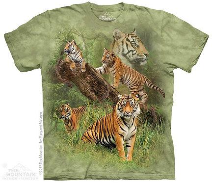 Wild Tiger Collage T-Shirt