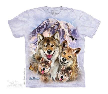 Wolf Selfie Kids T-Shirt