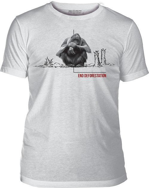 Deforestation Orangutan White