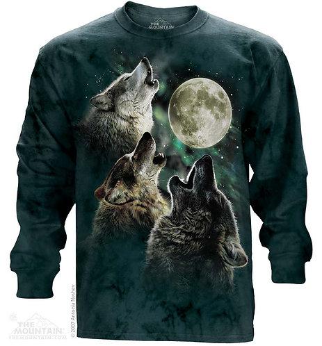 Three Wolf Moon Long Sleeve Tee