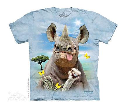 Rhino Selfie Kids T-Shirt