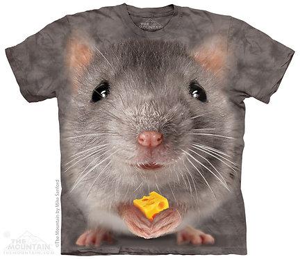Big Face Grey Mouse T-Shirt