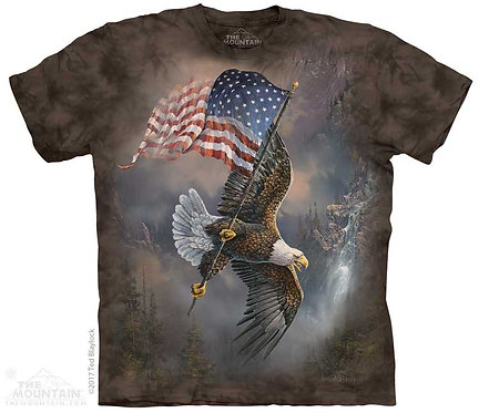 Kids Flag-Bearing Eagle T-Shirt