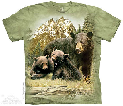 Black Bear Family T-Shirt