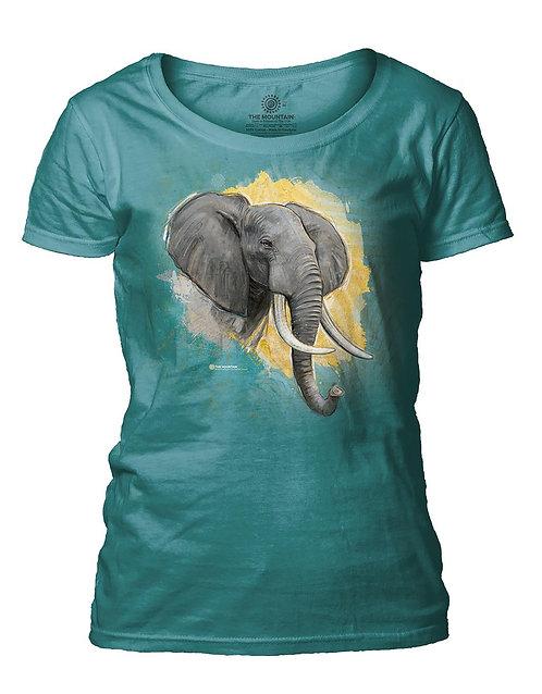 Modern Safari Elephant Turquoise
