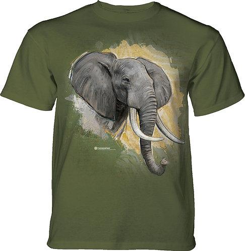 Modern Safari Elephant Olive