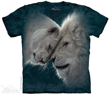 Kids White Lions Love T-Shirt