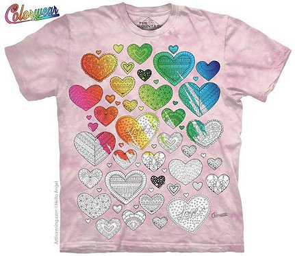 Hearts on Hearts by Hello Angel Colorwear T-Shirt