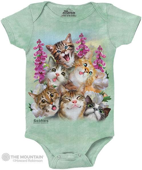 Kittens Selfie Baby Onesie