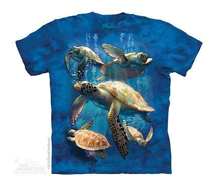 Sea Turtle Family Kids T-Shirt