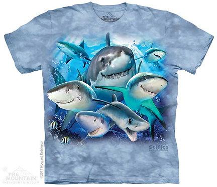 Kids Sharks Selfie T-Shirt