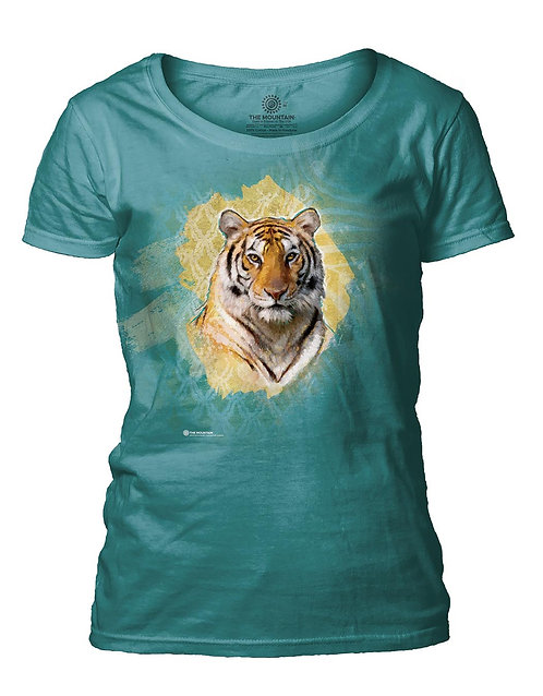 Modern Safari Tiger Turquoise