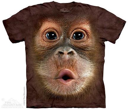 Big Face Baby Orangutan Kids T-Shirt