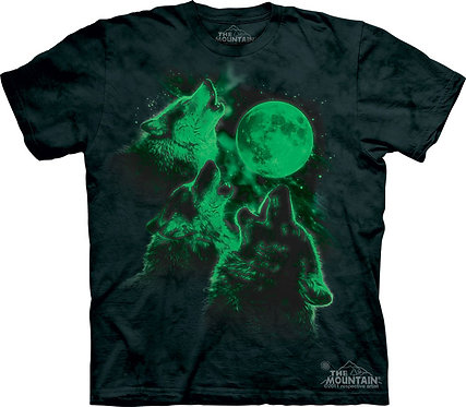 Three Wolf Moon Glow T-Shirt