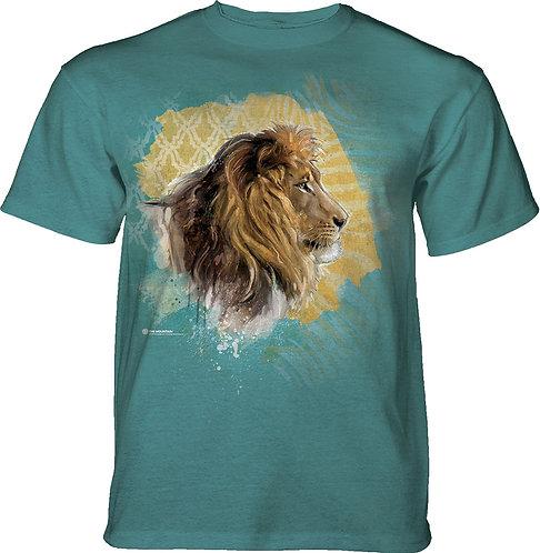 Modern Safari Lion Turquoise