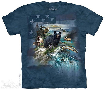 Patriotic North American Collage T-Shirt