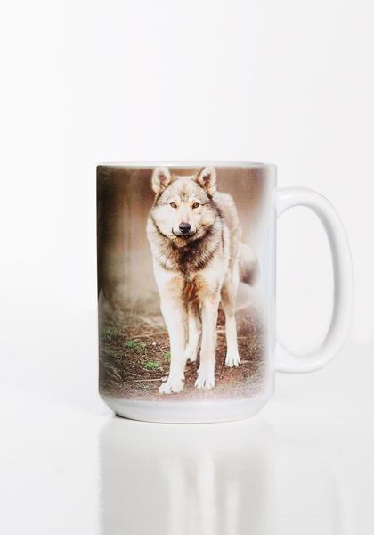 Grey Wolf Portrait Mug