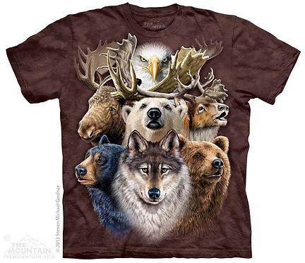 Northern Wildlife Collage T-Shirt