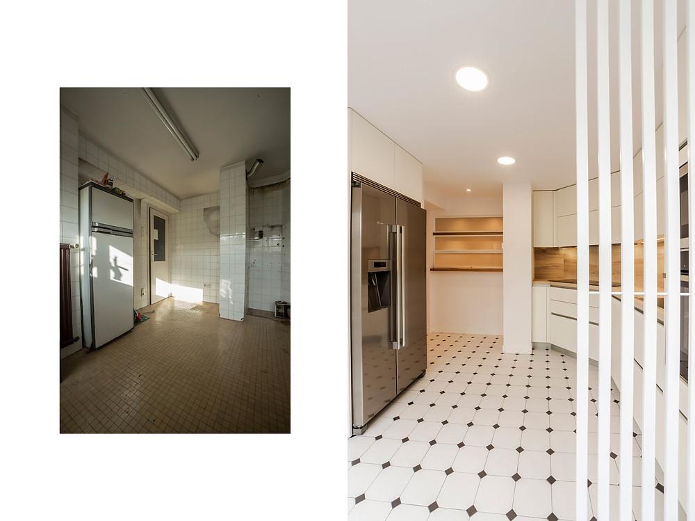 antes/después cocina
