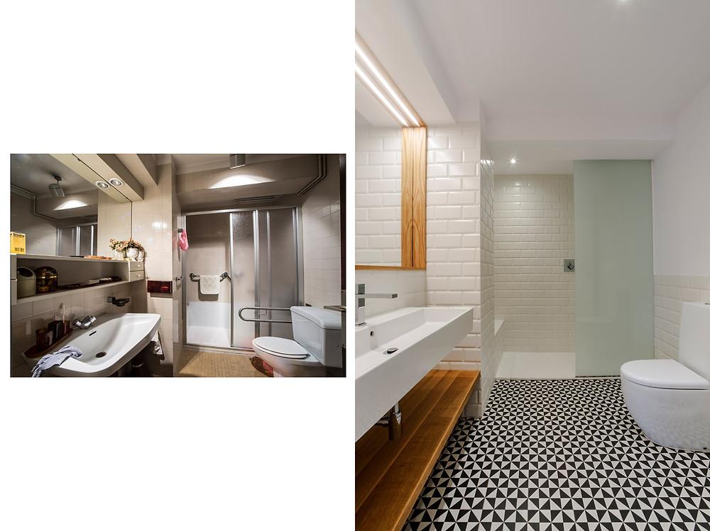 antes/después baño