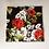 Thumbnail: handmade unisex, biker snood, neck tube, polyester elastane - black and red rose