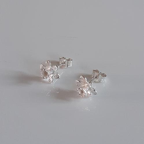925 Sterling Silver Daffodil Stud Earrings