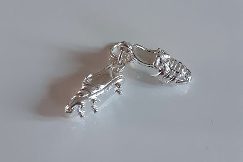 925 Sterling Silver Football Boots Charm - Pendant