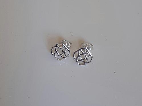925 Sterling Silver Celtic Knot Stud Earrings