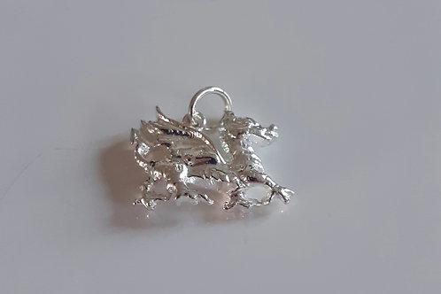925 Sterling Silver Welsh Dragon Charm - Pendant