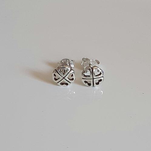 925 Sterling Silver 4 Leaf Clover Stud Earrings