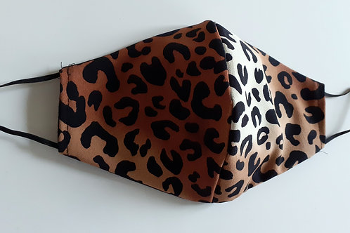 handmade facemask washable re-useable 3 layer Leopard Print