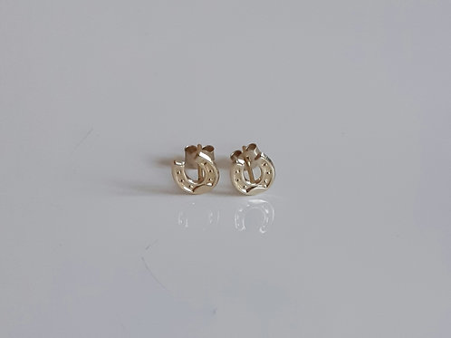 9ct Gold Small Horseshoe Stud Earrings