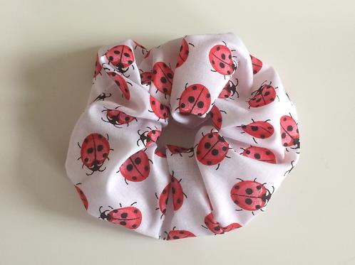Handmade scrunchie cotton lady bird print