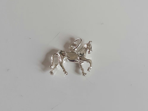 925 Sterling Silver 3D Horse Charm Pendant