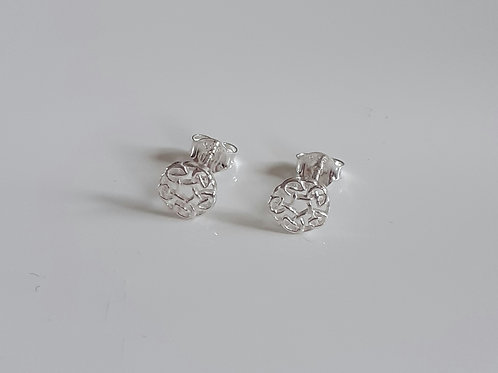 925 Sterling Silver Round Celtic Style Stud Earrings