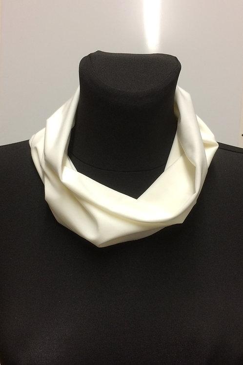 handmade multipurpose snood, neck warmer, Silky knit Polyester, Elastane, white