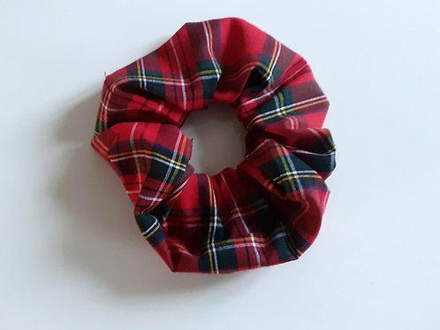 Handmade scrunchie red and green tartan