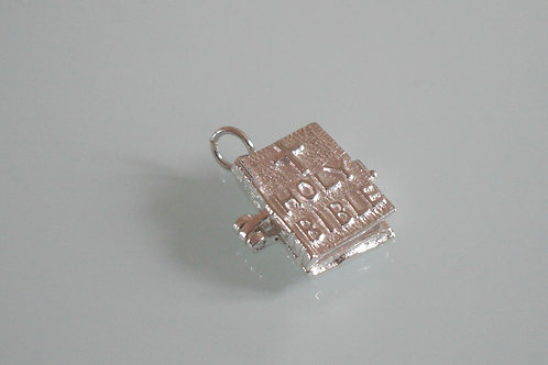 925 Sterling Silver 3D Opening Bible Charm/Pendant