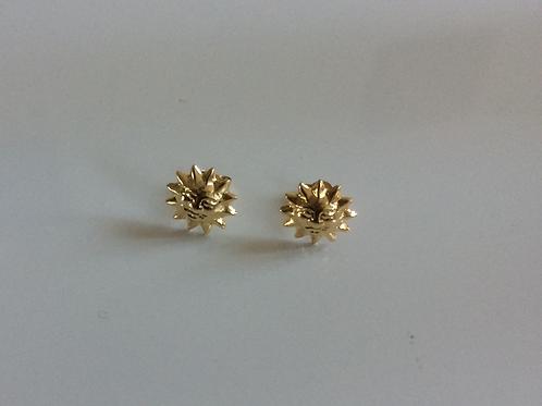 9ct Gold Sun stud earrings