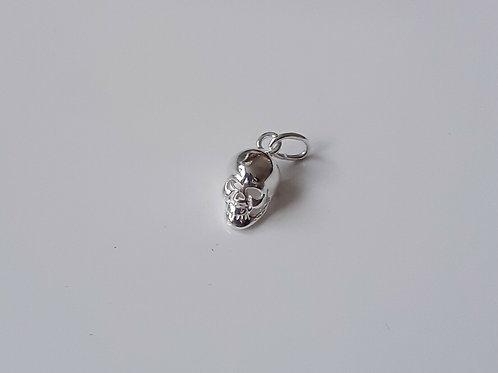 925 Sterling Silver 3d 10mm Skull Charm - Pendant