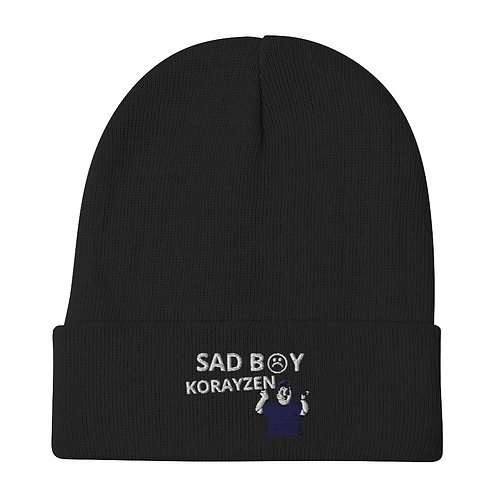SAD B☹Y (KORAYZEN) Embroidered Beanie