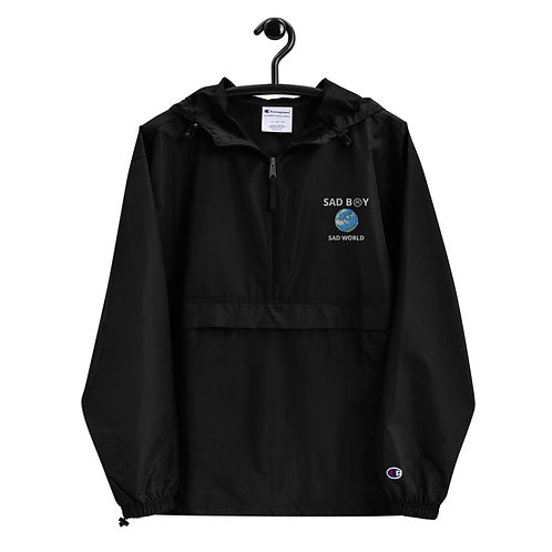 SAD B☹Y (SAD WORLD EDITION) Embroidered Champion Packable Jacket