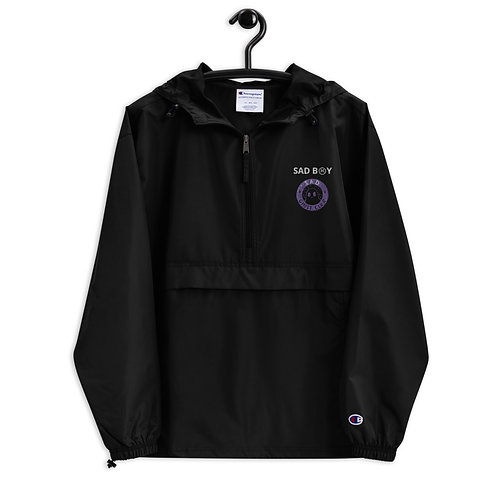 SAD B☹Y (GHOST EDITION) Embroidered Champion Packable Jacket