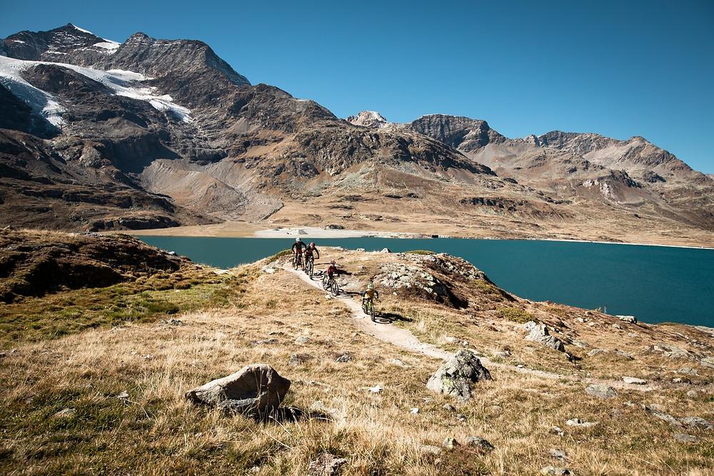 mountain biking swiss alps